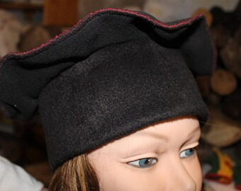 Black woman fleece beret Hat