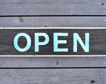 Open - Closed Sign | Double-Sided | Distressed | Made-to-Order Custom Signs Available