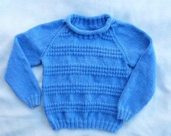 Boys Jumper/Boys Sweater/Kids Sweater/Girls Jumper/Girls Sweater/Childs Jumper/Childs Pullover/6 years/7 years/Kids Jumper/Blue Jumper