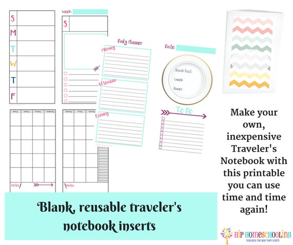 Traveler S Notebook Calendar Inserts : Page traveler s notebook inserts daily insert