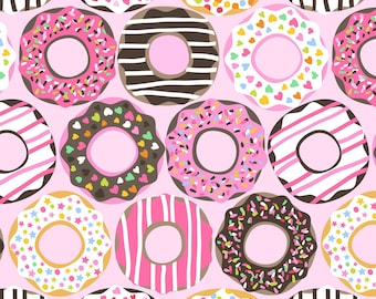 Doughnut Love Light Pink by Maude Asbury - The Lolly Collection - Donuts - Blend Fabrics - One Yard Quilting Fabric