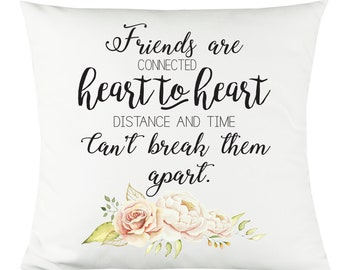 "Heart to Heart Friends - 14""x14"" Decorative Throw Pillow"