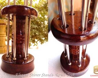 Solid Wooden Stirrer Stand for Drink Stirrers