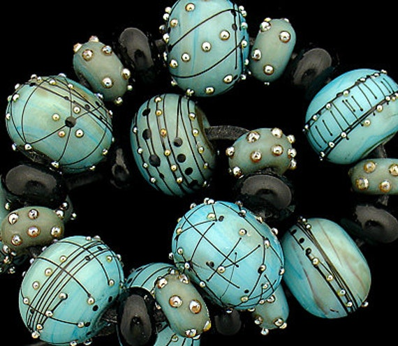 Lampwork Beads Handmade Lampwork Glass Beads Gift For Her Necklace Bracelet Rustic Beads For Jewelry Supplies Organic Beads Debbie Sanders