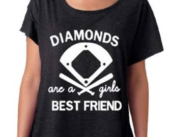 Diamonds Are A Girls Best Friend/ Baseball Tee/Sports/ Gift For Her