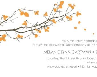 Printable Tree Branch Invitation