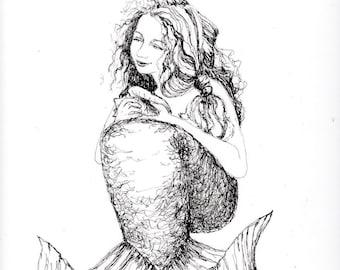Lucky in Love Lola the Mermaid; C-Print; Chromogenic Print; Fantasy Art