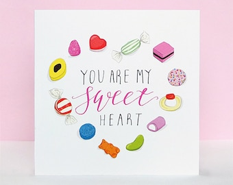 You Are My Sweetheart - Valentine's Day Card