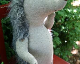 Baxter: Hedgehog pattern, hedgehog PDF,  hedgehog sewing, easy hedgehog, fabric hedgehog, hedgehog toy, hedgehog plush, soft toy hedgehog