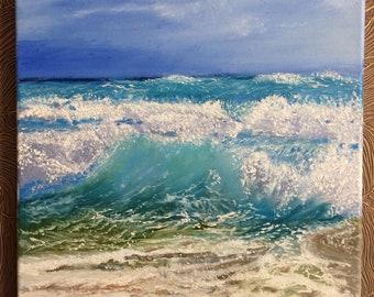Beach Paintings, Sea Paintings On Canvas,  Art Oil Painting Original, Ocean Painting, Landscape Painting, Art Oil Painting, Beach Oil Art