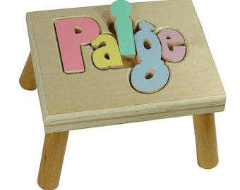 Custom Colors Puzzle Step Stool