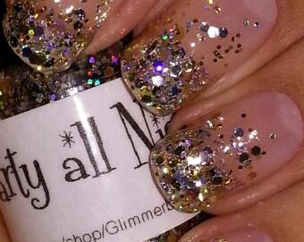 Party All Night handmade custom nail polish