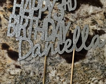 Personalized Birthday Cake Topper