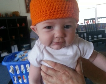Crochet Baby Pumpkin Hat