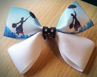 Mary Poppins Hair Bow Clip