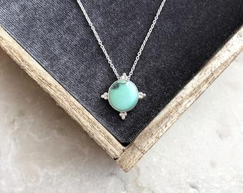 Ronde sierlijke Turquoise ketting