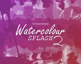 Watercolor Splash 2 - Photoshop CS6+ Brushes