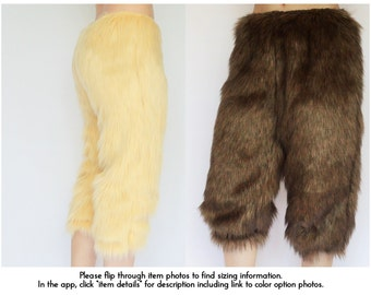 Satyr Costume Pants/ Faun Costume, Halloween Satyr Costume, Satyr Cosplay, Fur Faun Pants Cosplay Faun Color Pants Fawn Color Pants