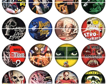 Horror Movie Magnets Pins Party Favors Vintage Horror Pin Magnet Gift Sets