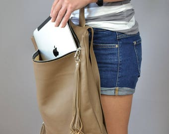 Macbook backpack, Backpack, Ladies backpack,  Leather backpack,  Leather rucksack, Laptop bag leather, Laptop Leather Rucksack,  Laptop bag