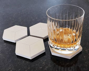 Axo Concrete Coaster Set