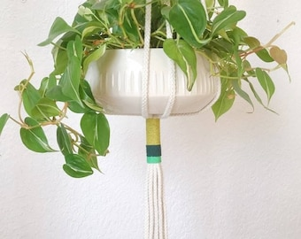 Slim Color-Block Plant Hanger