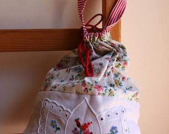 Boho bag, Floral bag, Embroidered bag, Floral shoe bag, floral lingerie bag, Lingerie bag, Shoe bag, Boho shoe bag, Hungarian bag