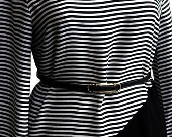 Stripped black & white dress