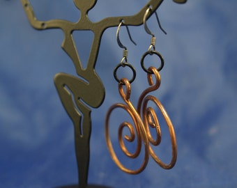 Hand-Hammered Spiral Earrings