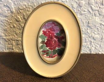 Vintage Ceramic Oval Picture Frame