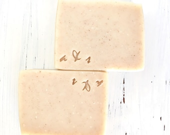 Oatmeal and Lavender Goat's Milk Soap, All Natural Soap, Handcrafted Goat's Milk Soap with Oatmeal, Goat's Milk Soap