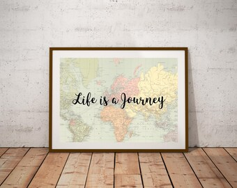 World map quote etsy world map printable arttivational print world map poster world map print gumiabroncs Image collections