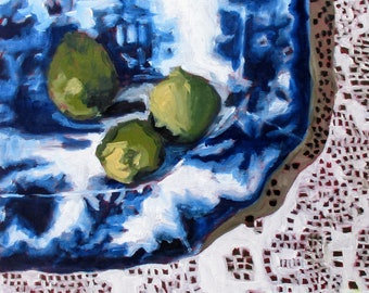 Blue Platter and Limes