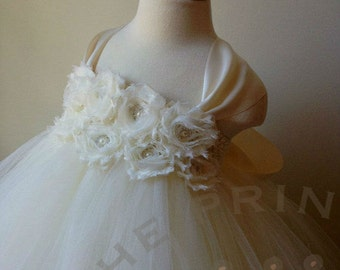 ivory flower girl dress, girls dress, baby dress, flower girl dress, girls birthday dress, christening dress, flower girl dress ivory, tutu