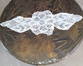 7'' X 18'' handmade crochet  vintage doilies