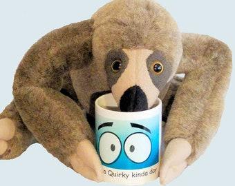 Large sloth stuffed animal, sloth toy, sloth plush, sloth doll, stuffed sloth, plush sloth, sloth plush toy, jungle toy, sloth stuffed toy