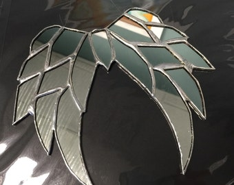 Mirror Angel Wings Stained Glass Sun Catcher