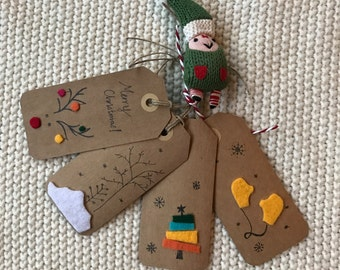 Holiday Felt and Illustration Gift Tags
