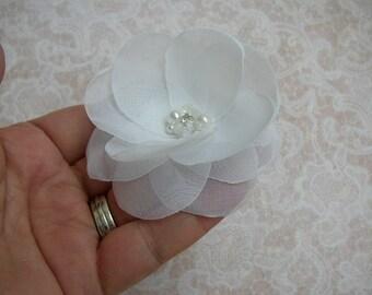 First Communion Headpiece, Wedding Hair Accessories, White Hair Piece, Flower Girl, Bridal Hairpiece, White Hair Flower, Simple Hair Pin