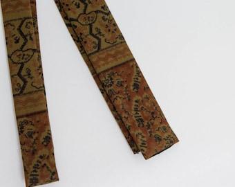 vintage 60s men's necktie skinny square tie