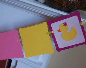 Rubber Duck 12 Month Photo Banner, Duck Birthday, Duck 1st Birthday, Rubber Duck Party