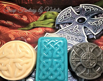 Celtic Knot Soap-Shield Soap-Celtic Cross-Irish Gift-Men's Gift-Gift for Him-Gift for Her-Party Favor-Father's Day