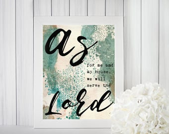 As for Me and My House Print