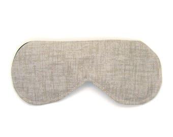 Sleeping Eye Mask / Night Eye Mask / Travel Eye Mask / Sleep Mask - Tan Twill