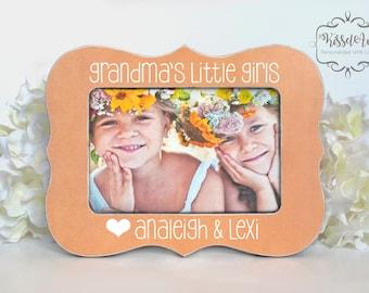 Mothers Day Gift for Grandma Gift for Grandma Personalized Picture Frame Grandma Granddaughter Picture Frame Grandmas Little Girls 4x6