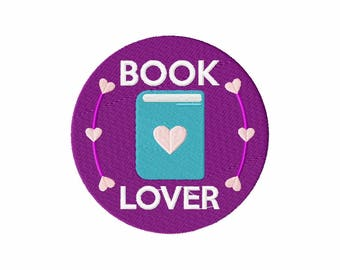 Machine Embroidery Design - Book Lover Collection #01