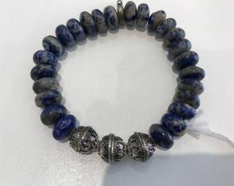 Handmade bracelet from stone la piz and SILVER