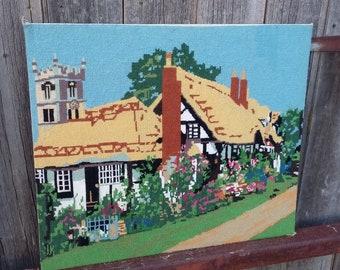 Vintage Tapestry of a Cottage