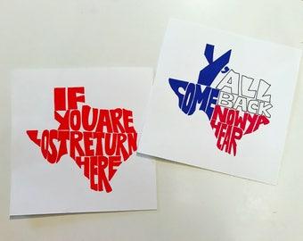 Custom State Shape Word Art