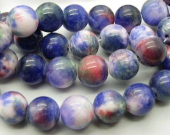 25 10 mm blue pink green jade stones